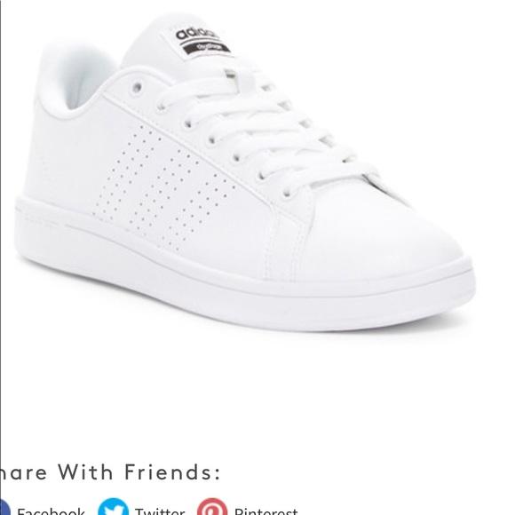 Le adidas nuovi cloudfoam vantaggio pulito tennis mostra poshmark